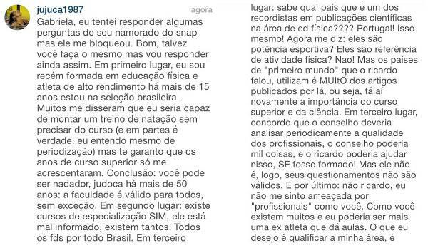 Comentários Joanna Maranhão