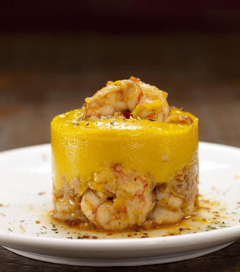 Tortinha de camarão com abóbora, sem glúten e sem lactose (Divulgação)