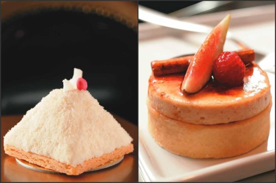 Duas tortas tentadoras: lichia e figo