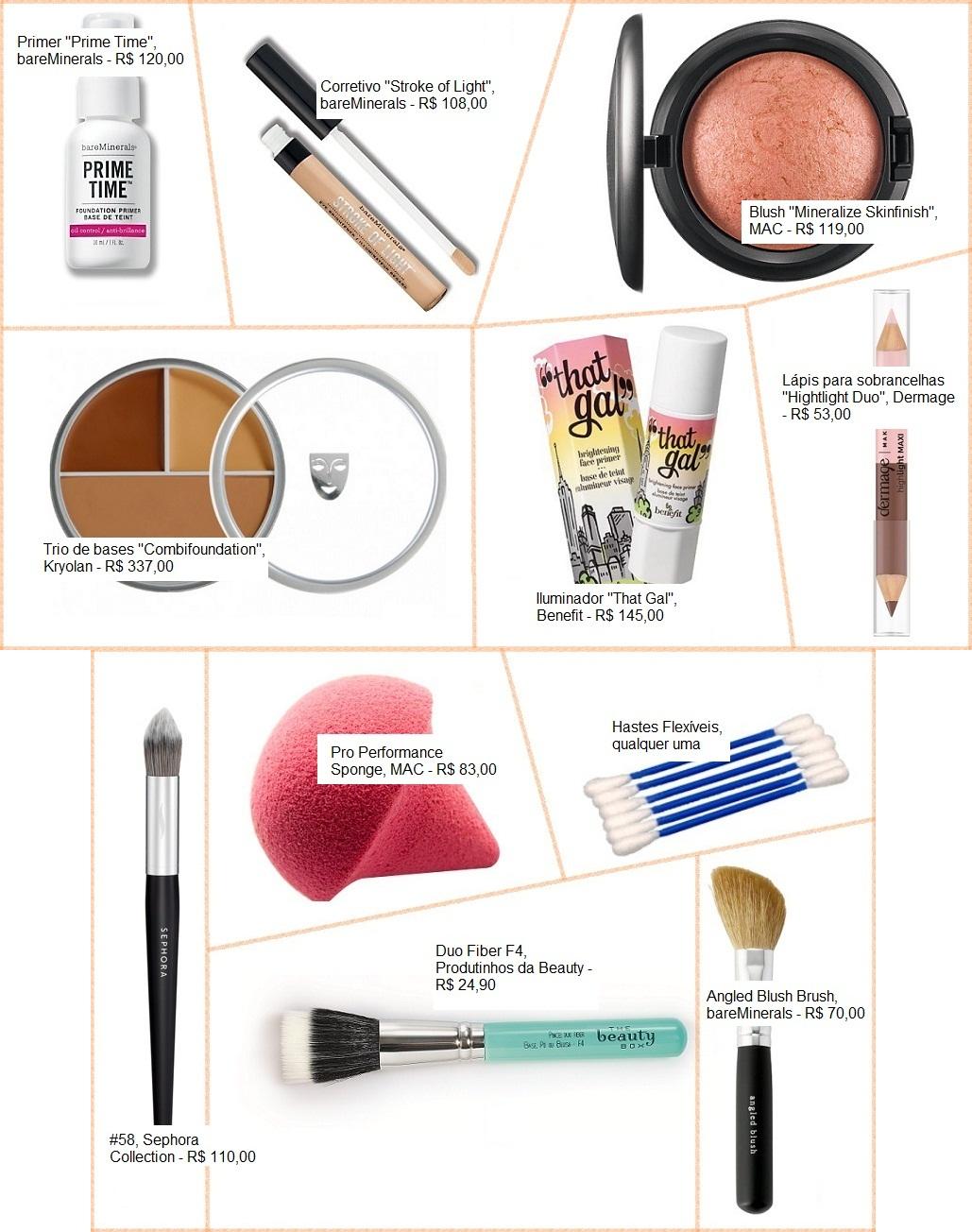 Contorno - Maquiagem - Produtos Usados