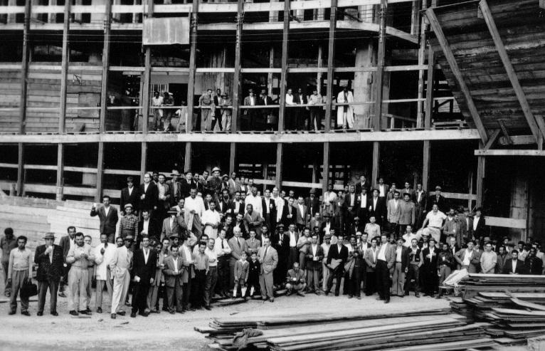 Copan: equipe de funcionários que trabalharam nas obras do prédio