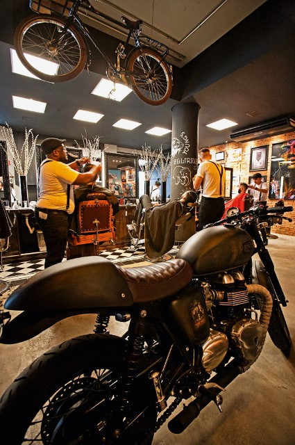 A barbearia Corleone. (Foto: Fernando Moraes)