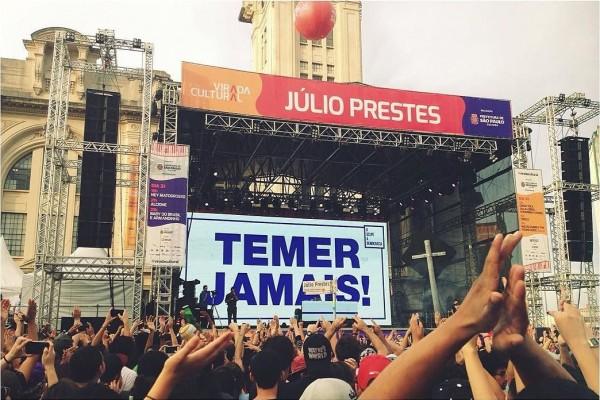 Show do rapper Criolo: entre os mais políticos da Virada