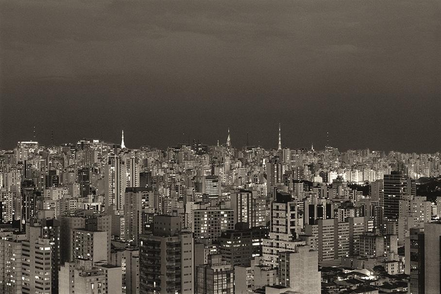 São Paulo vista do alto, em registro de Cristiano Mascaro: a Fotospot cobra R$ 1.950,00 (sem moldura) ou R$ 2.260,00 (com moldura)