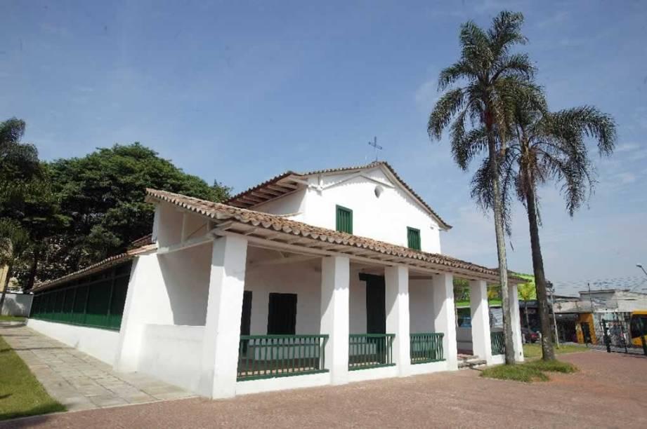 Fachada da Capela de São Miguel Arcanjo: inaugurada em 1622