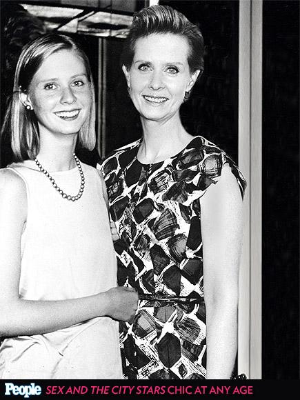 Cynthia Nixon em 1986 e em 2013