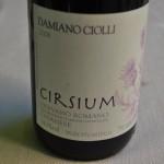 Tinto do Lazio: Cirsium di Olevano Romano Cesanese 2008, elaborado a 40 quilômetros de Roma