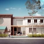 Projeto original da fachada: clima praiano