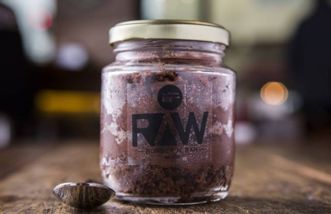 Raw Burger N Bar: bolo de Nutella