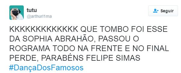 Dança do Famosos Final_twitter 6