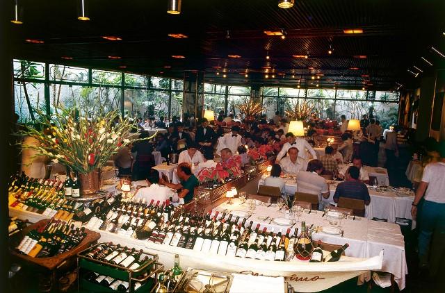 Salão do restaurante Massimo, em 1986