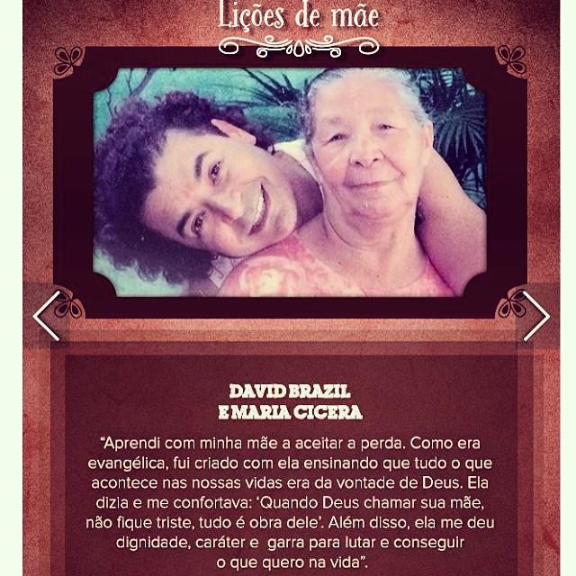 David Brasil escreveu até uma mensagem