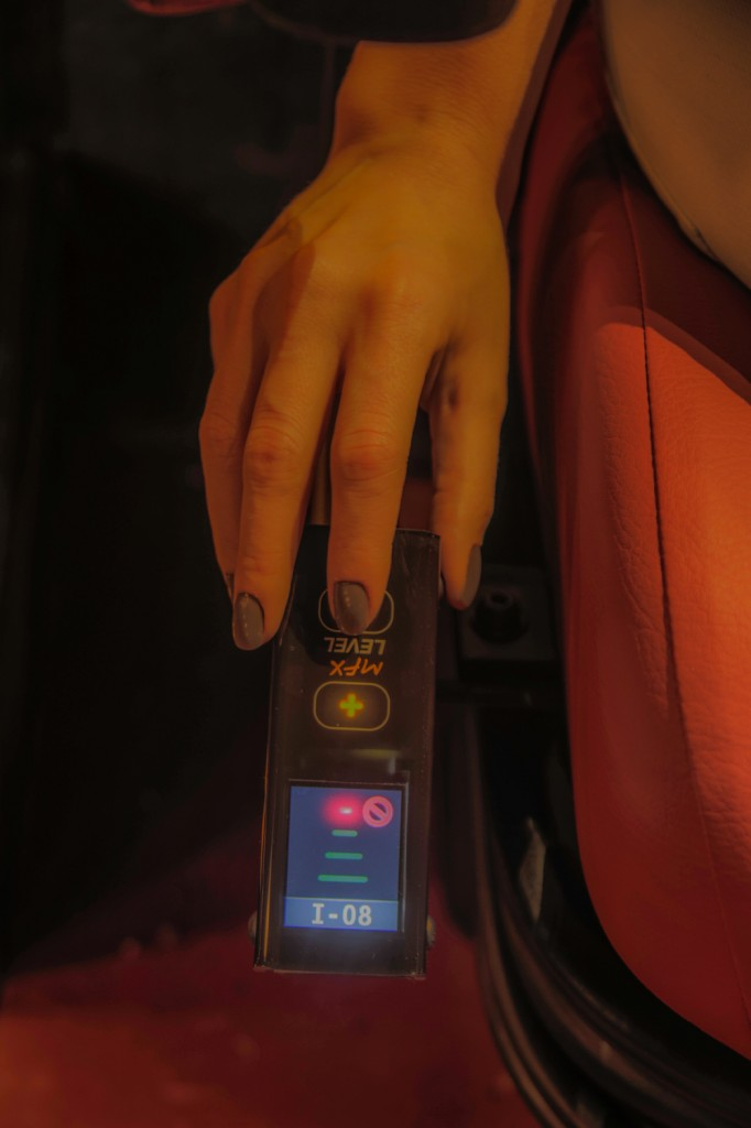 O controle remoto ajusta a intensidade da vibração