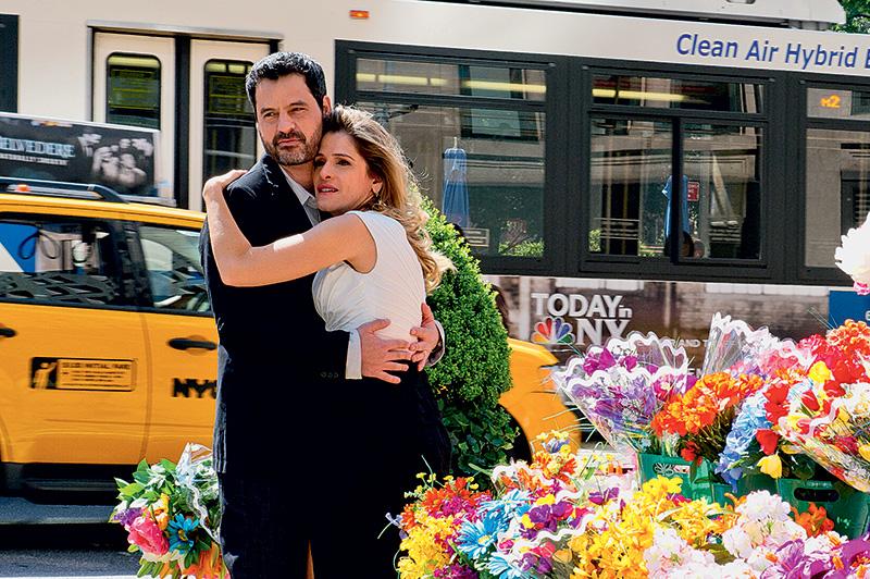 Bruno Garcia e Ingrid Guimarães: locações em Nova York