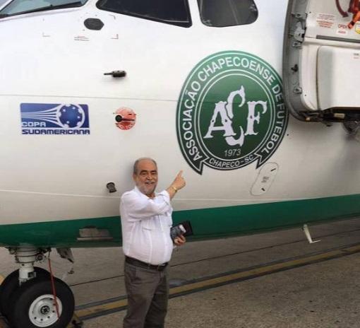Peixoto Filho fez foto antes de embarcar no trágico voo: luto nacional (Foto: Reprodução)