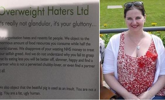 Kara Florish, acima, divulgou a mensagem depois que recebeu um panfleto do grupo
