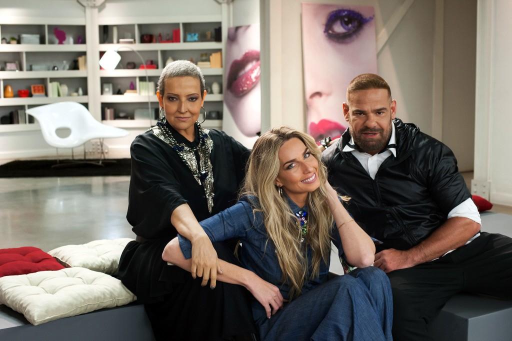 Betty Lago, Mariana Weickert e o maquiador Daniel Hernandez (Foto: Márcia Alves)