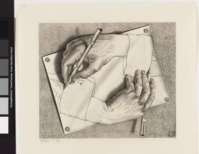 O Mundo Mágico de Escher: Desenhando, de 1948