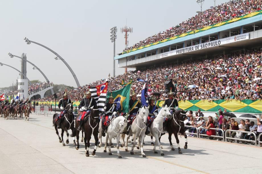 O Desfile de 7 de Setembro tem entrada gratuita ao público