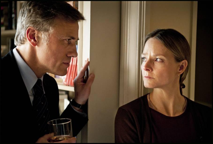 Christoph Waltz e Jodie Foster em Deus da Carnificina: atores estrelam o novo filme de Polanski