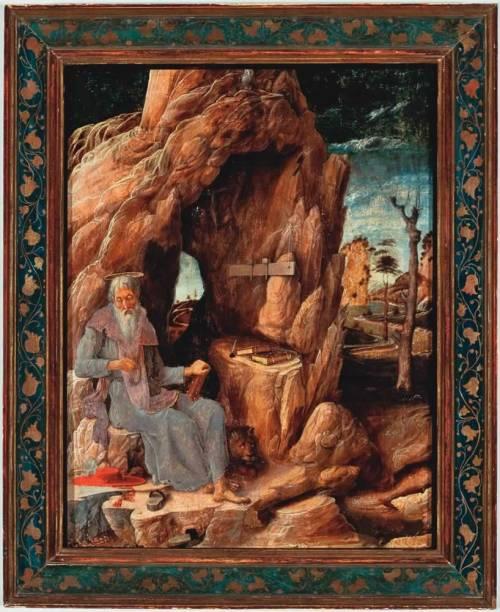 São Jerônimo Penitente no Deserto, de Andrea Mantegna: a tela do Masp foi restaurada no Museu do Louvre e está em Deuses e Madonas — A Arte do Sagrado