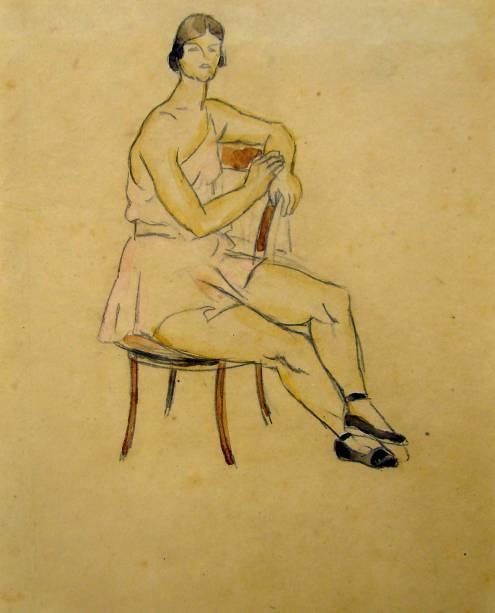 Sem título (Dançarina Sentada), 1929