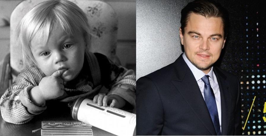 E o que dizer do parceiro de Kate em Titanic? Leo DiCaprio foi um bebê lindão