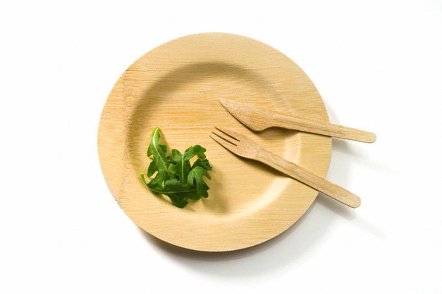 Bamboo plate and utensils