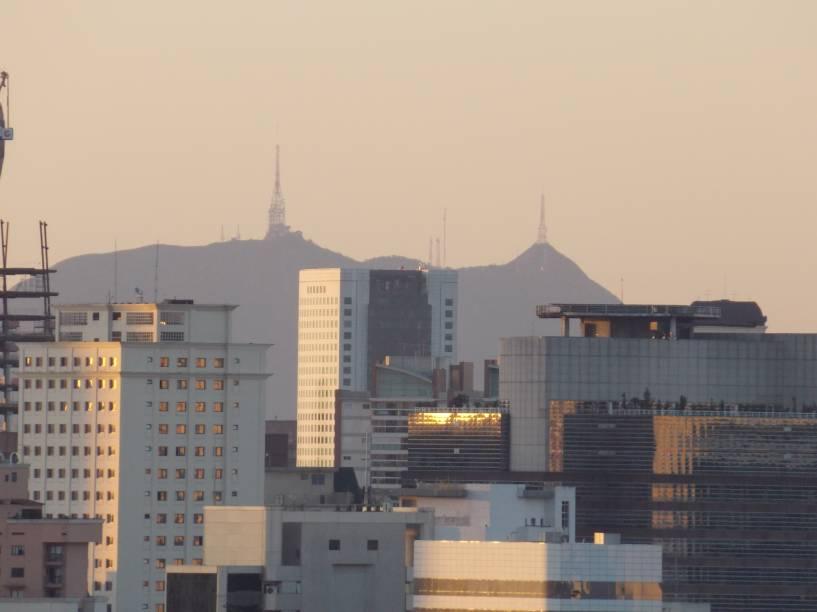 O ponto mais alto da cidade visto de Campo Belo