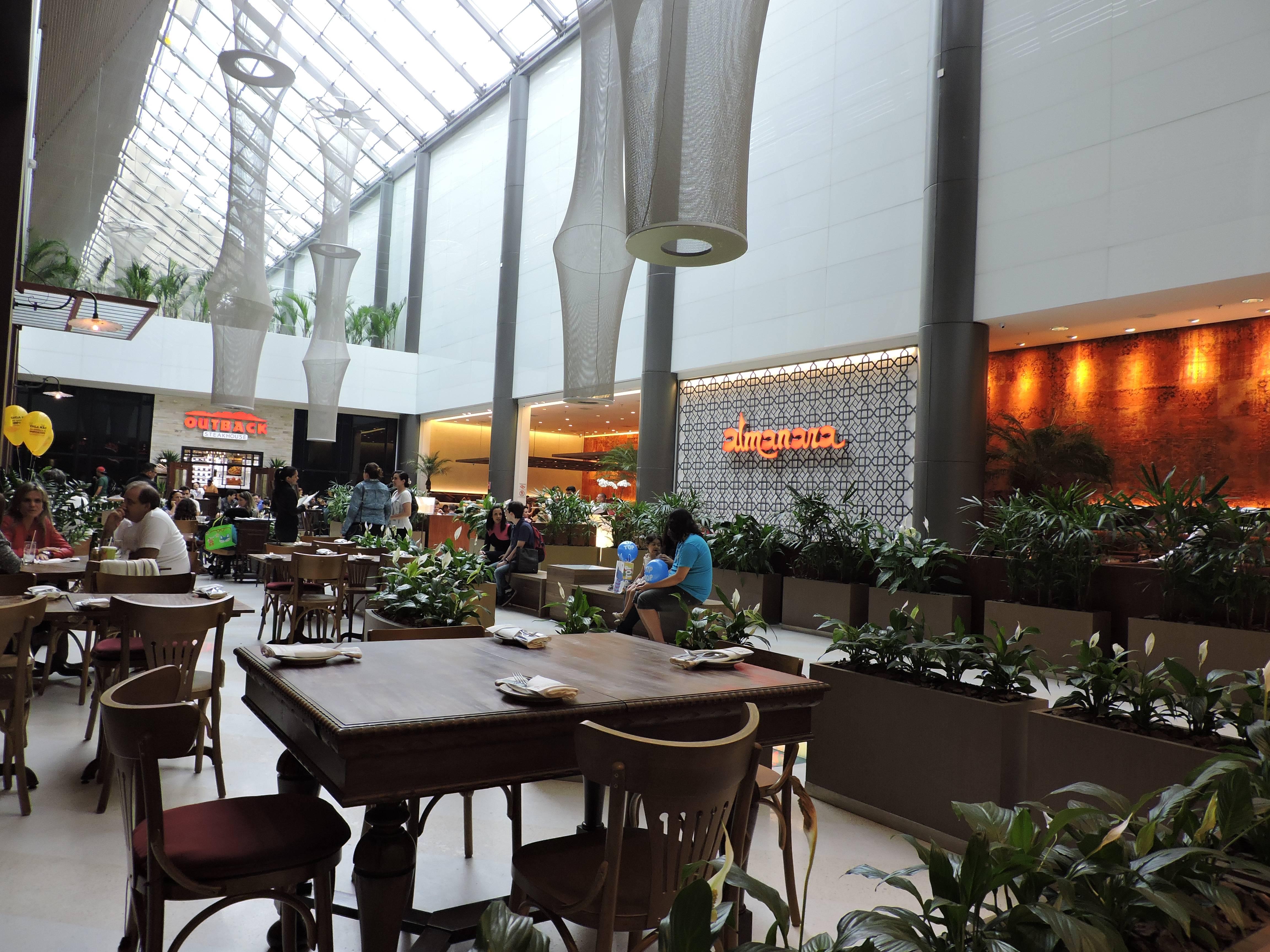 Área gourmet - Shopping Cidade São Paulo