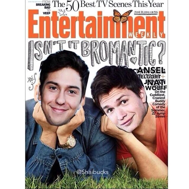 Ansel e Nat Wolff colocaram o rosto na capa da Entertainment Weekly, no lugar de Jonah Hill e Channing Tatum