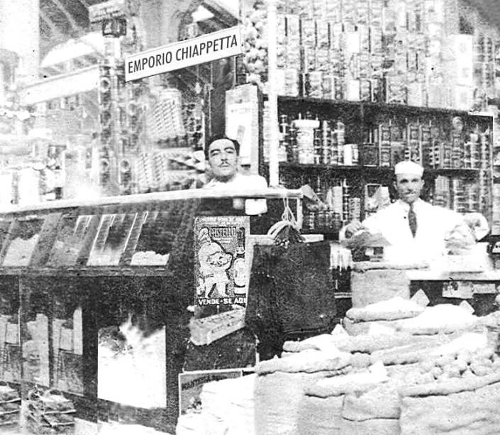 Empório Chiappetta: a banca em 1934, um ano depois da inauguração do Mercado Municipal