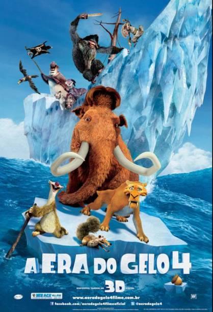 Pôster de A Era do Gelo 4: desenho animado traz muitas aventuras