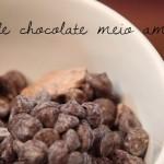 Sequência de ingredientes: chocolate meio amargo