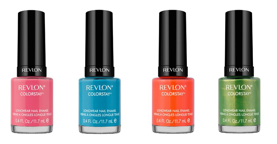 A linha Revlon ColorStay pinta as unhas com efeito de unhas de gel e conta com um pincel duplo que garante uma aplicação suave, sem bolhas e manchas, com o acabamento profissional. As cores rosa, azul, laranja e verde são as apostas da marca para o verão. Preço sugerido: R$ 19,90 (cada)