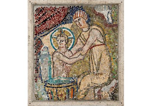 Mosaico do Oratório do Papa João VII