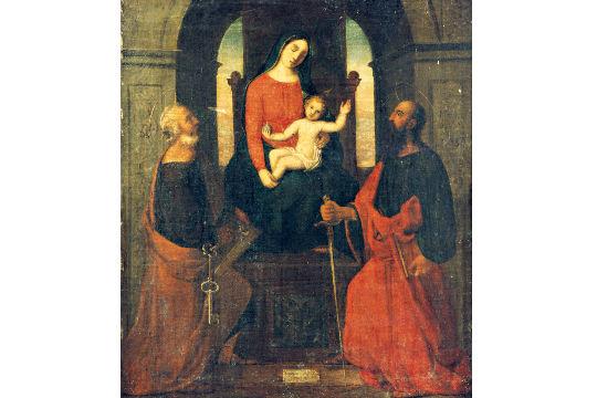 A Virgem Maria com o Menino Jesus entre São Pedro e São Paulo