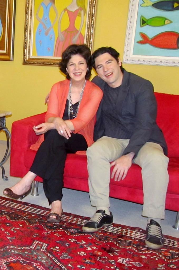 Esther Góes e Ariel Borghi: mãe e filho, parceria artística (Foro: Daniel Trevis)