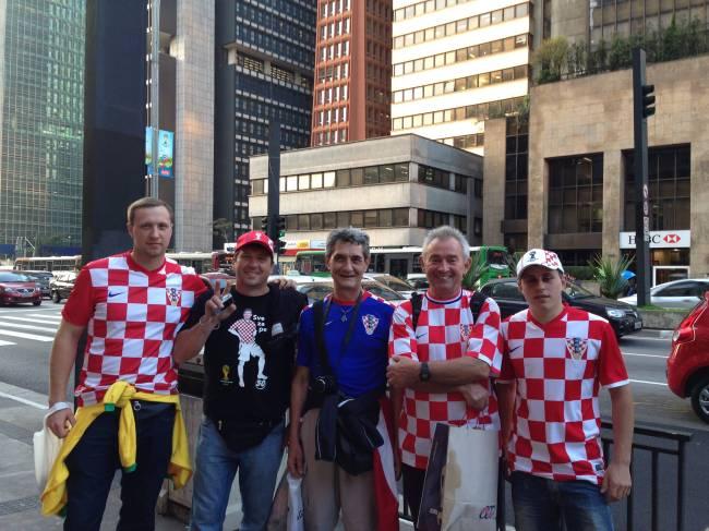 estrangeiros - Croácia - Copa do Mundo - Avenida Paulista