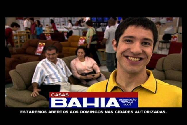 Fabiano Augusto na propaganda da Casas Bahia