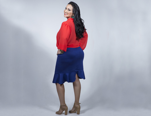 Rabo de Arraia: estreia como modelo plus size (Foto: divulgação)