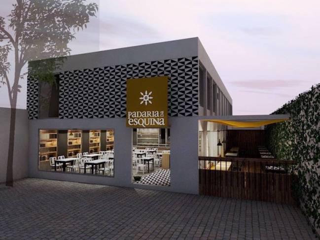 Fachada da padaria previsão de abertura em abril de 2016 Projeto APR materiais