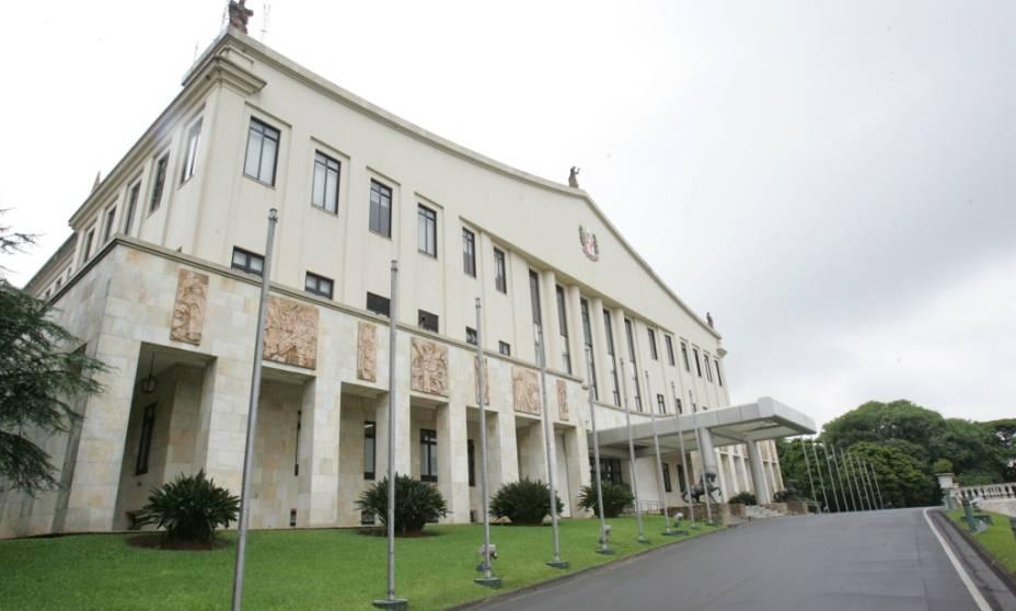 Fachada do Palácio dos Bandeirantes, sede do governo estadual
