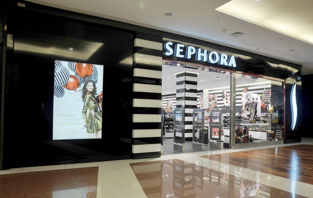 Fachada Sephora no Shopping Anália Franco, Zona Leste de SP