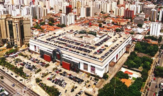 Shopping Ibirapuera imagem aérea