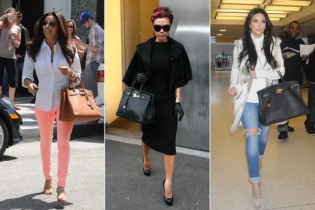 Eva Longoria, Victoria Beckham e Kim Kardashian usam a tão falada bolsa