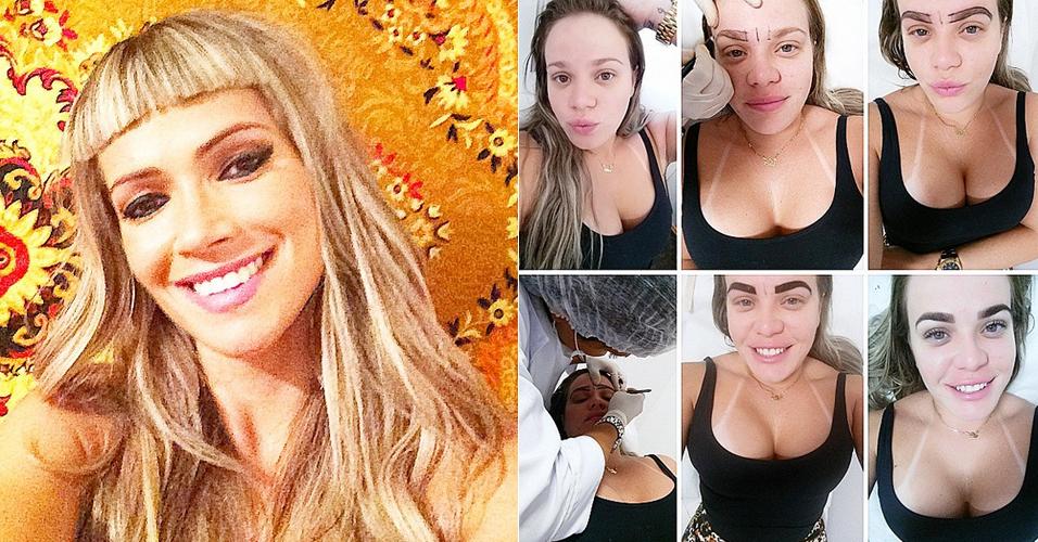 Ex-BBBs Fani e Paulinha: franja e sobrancelha inspiradas em tendências de beleza (Foto: Reprodução/Instagram)