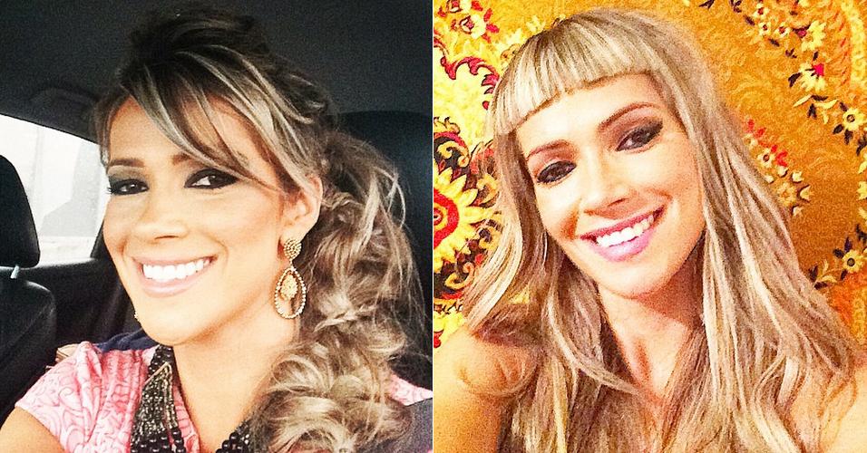 Fani antes e depois: nova franja dividiu opiniões (Foto: Reprodução/Instagram)