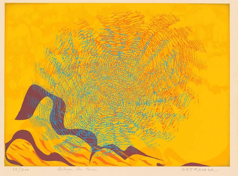 Ilustração de Fayga Ostrower para Os Anjos e os Demônios de Deus: abstração e cores vibrantes