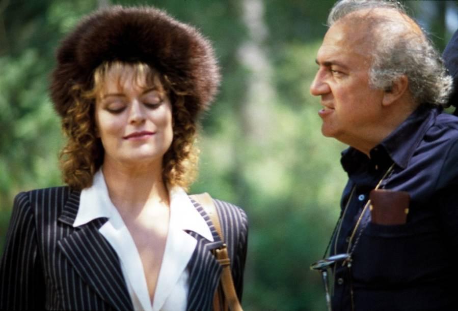 A musa e o diretor: Bernice Stegers e Federico Fellini em A Cidade das Mulheres